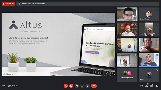 Imagem: print de tela de apresentação da startup Altus