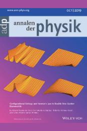 Imagem: Capa da revista Annalen der Physik (Imagem: Divulgação)