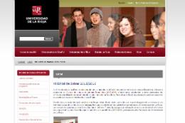 Imagem: Capa do site da Universidade de La Rioja