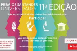 Imagem: banner de divulgação do Santander Universidades 2015