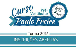 Imagem: Parte do cartaz de seleção da turma 2016 do Curso Pré-Vestibular Paulo Freire