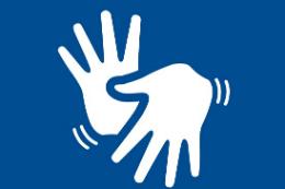 Imagem: símbolo da íngua brasileira de sinais