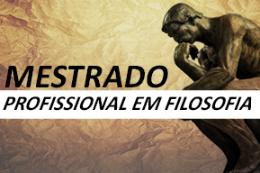 Banner do mestrado, com imagem do Pensador, de Rodin (Imagem: Divulgação)