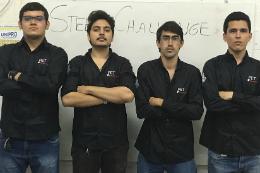 Imagem: Da esquerda para a direita, os estudantes Fabrício Braga, Jeová Melo, Jamil Nobre e Emmanuel Almeida (Foto: Divulgação)