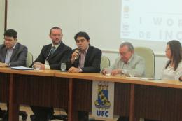 Imagem: O Prof. Antonio Gomes ressaltou que a UFC agora se movimenta cada vez mais para explorar o importante canal de conexão com a sociedade por meio da inovação (Foto: Divulgação/CCA)
