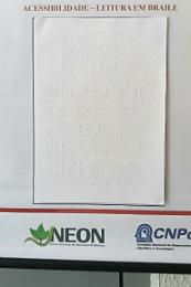 Imagem: Transcrição em braile de trabalho do NEON (Foto: divulgação)
