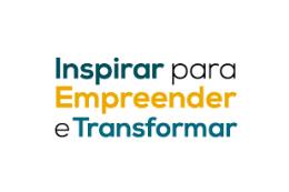 Imagem com o texto Inspirar para Empreender e Transformar