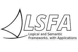 Imagem: Logomarca do evento com desenho de uma vela de jangada e as letras LSFA