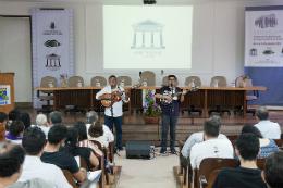 Cantadores na abertura do seminário agronomia