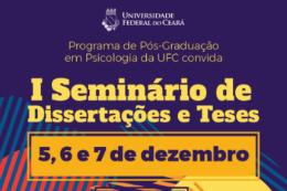 Imagem: No seminário, mais de 40 dissertações e teses serão discutidas (Imagem: Divulgação)