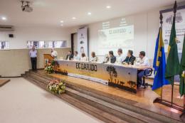 Imagem: Na abertura do evento, o reitor Henry Campos citou o profundo envolvimento da UFC na busca de solução para os problemas que, há séculos, angustiam o Ceará e o Nordeste (Foto: Ribamar Neto/UFC)