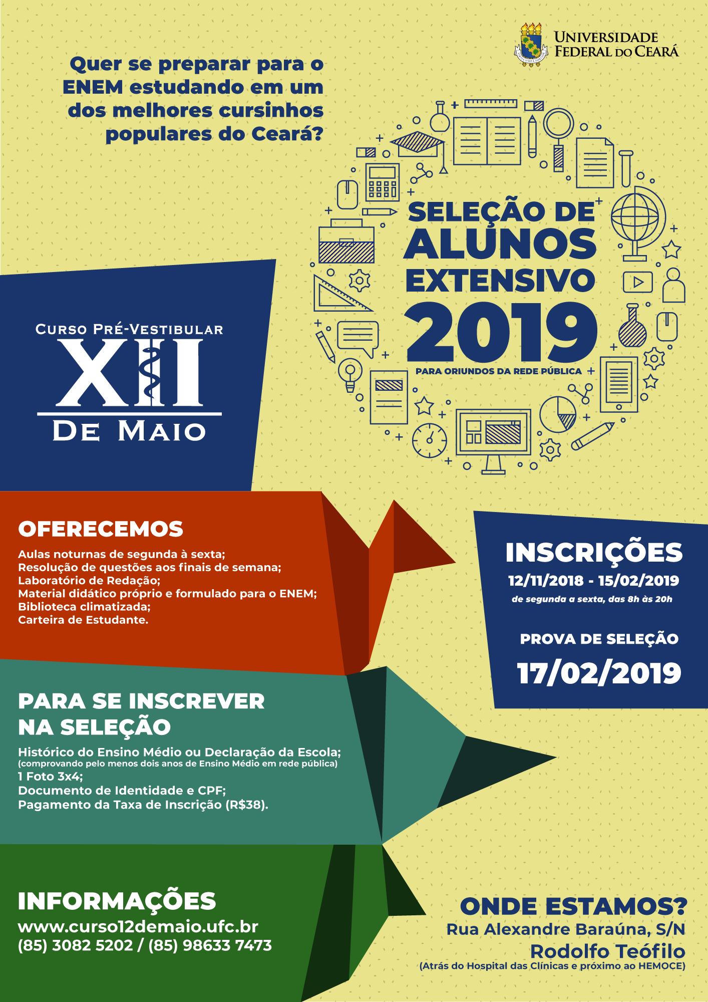Portal Da Ufc Universidade Federal Do Ceara Curso Pre Vestibular Xii De Maio Inscreve Para Processo Seletivo Ate 15 De Fevereiro
