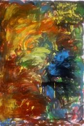 Imagem: Obra feita por participante do projeto Artes em Esquizofrenia (artES)