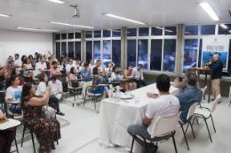 Imagem: O reitor Henry Campos comentou a política de sua gestão de intensificar a aproximação com o Governo do Estado e a Prefeitura de Fortaleza (Foto: Ribamar Neto/UFC)