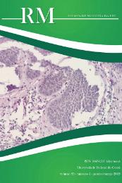 Imagem: capa da Revista de Medicina da UFC. Imagem captada de um microscópio e detalhes na cor verde