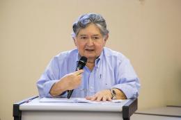 Foto do discurso de Arnóbio Machado