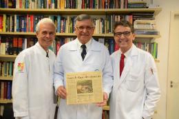 Imagem: Os médicos Edmar Maciel, Odorico Moraes e Marcelo Borges (Foto: Acervo de Marcelo Borges)