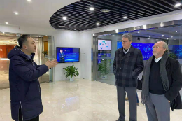 Imagem: Reitor e Prof. Augusto visitaram o TusPark, maior parque tecnológico da China e um dos mais importantes do mundo
