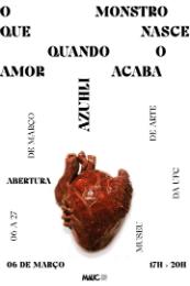 """Imagem: """"O monstro que nasce quando o amor acaba"""" reúne desenhos, pinturas e esculturas autobiográficas da artista Azuhli (Imagem: Divulgação)"""