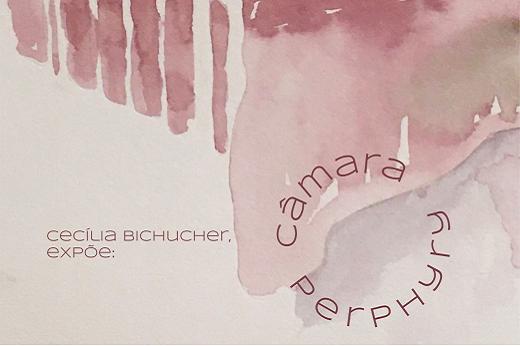 Imagem: tela em aquarela da artista Cecília Bichucher