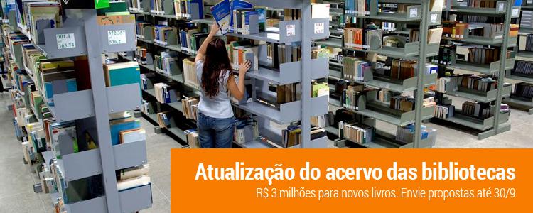Clique e saiba como funciona o envio de propostas de aquisição de novos livros