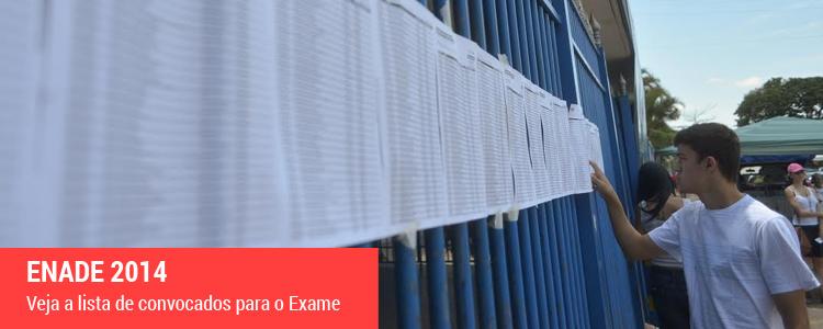 Clique e veja a lista de convocados para o Exame