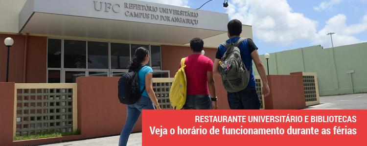 Clique e saiba mais sobre o horário de funcionamento das Bibliotecas e Restaurante Universitário durante as férias
