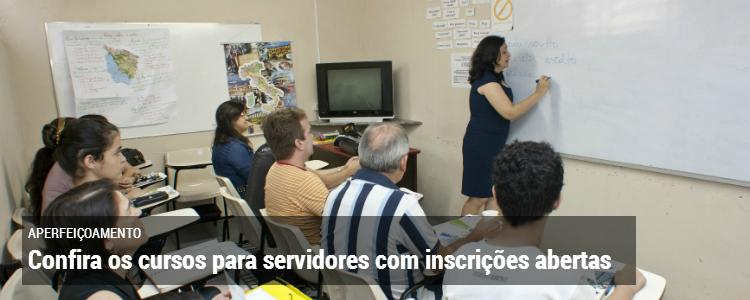 Clique aqui e saiba mais sobre os cursos para servidores com inscrições abertas