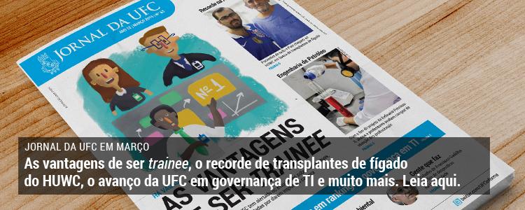 Clique e leia a edição de março de 2015 do Jornal da UFC.