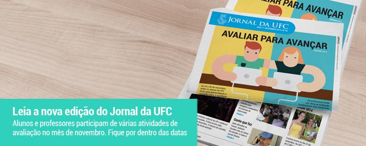 Clique e leia o Jornal da UFC de novembro de 2014.